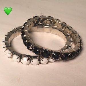 Black and white stretchy bracelets
